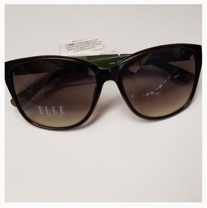 e7bfd1487d NWT Elle Green Brown 100% UV Protection Sunglasses